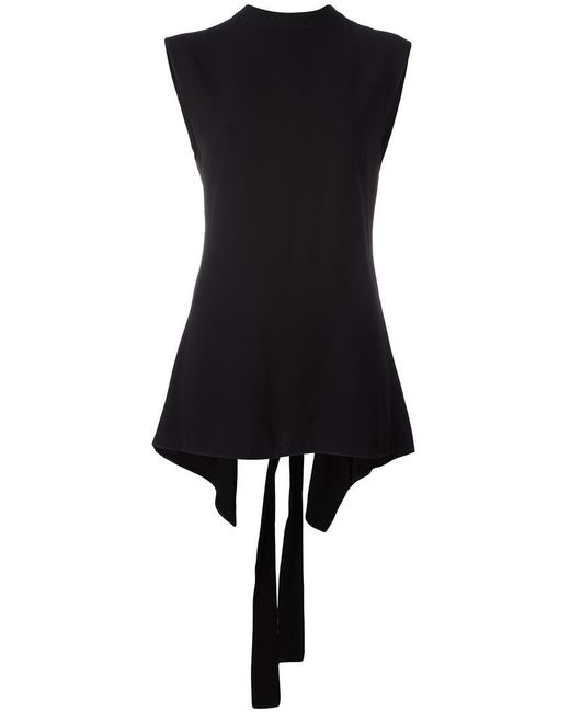 Marni | Black Open Back Blouse | Lyst
