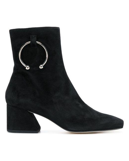 Nizip Embellished Suede Ankle Boots - Black DORATEYMUR h3EcTTZ