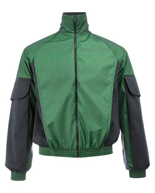 Cottweiler | Green Contrast Sleeve Zipped Jacket for Men | Lyst
