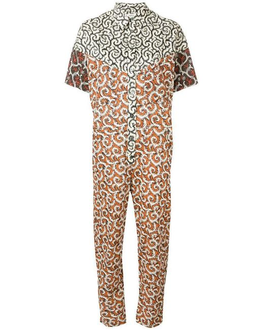 5824a4b5df Étoile Isabel Marant - White All-over Print Jumpsuit - Lyst ...