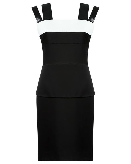 Gloria Coelho | Black Panelled Dress | Lyst