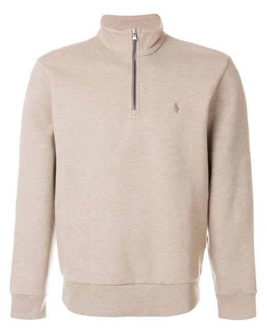 Polo Ralph Lauren | Natural Zipped Neck Sweatshirt for Men | Lyst