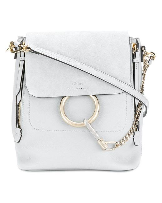 Chloé - Gray Faye Shoulder Bag - Lyst