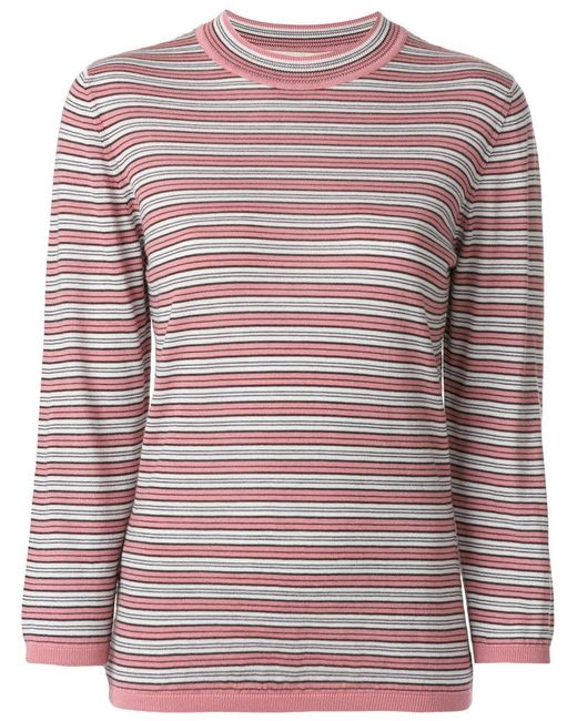 Marni - Multicolor Knitted Striped Top - Lyst