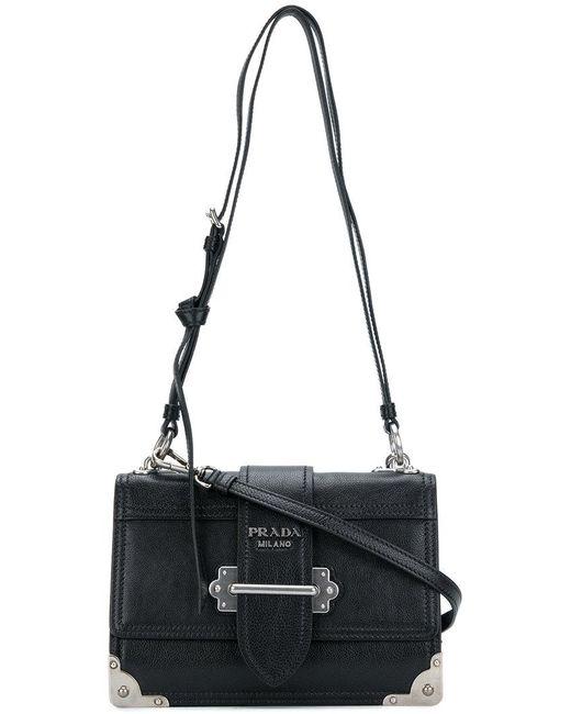 a608d7228790 Prada - Black Cahier Shoulder Bag - Lyst ...