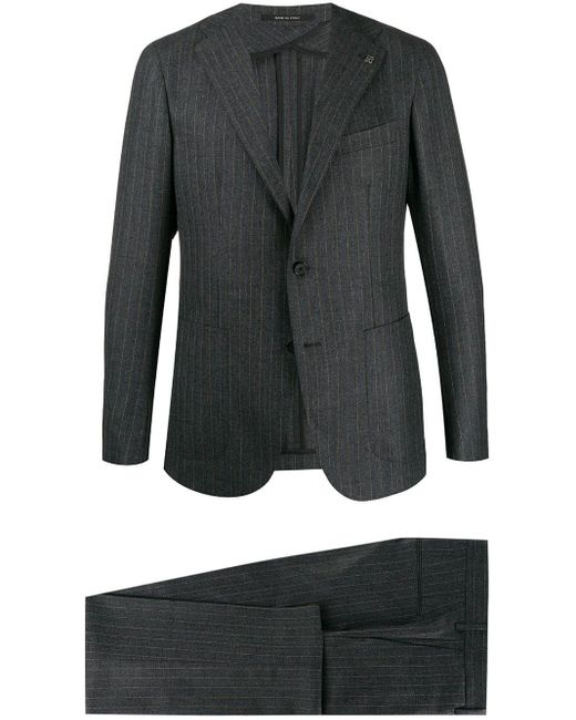 Tagliatore Gray Pinstriped Two-piece Suit for men