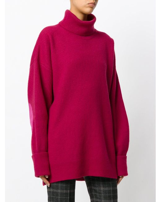 Maison margiela Ribbed Turtleneck Sweater in Pink - Save 50% | Lyst