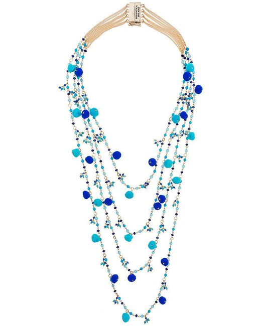 Rosantica - Blue Alchimia Beaded Necklace - Lyst