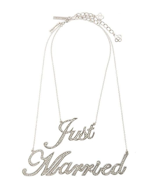 Oscar de la Renta - Gray Just Married Necklace - Lyst