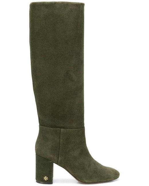 d21651f2d7d7 Lyst - Tory Burch Brooke Slouchy Boots in Green - Save 7%