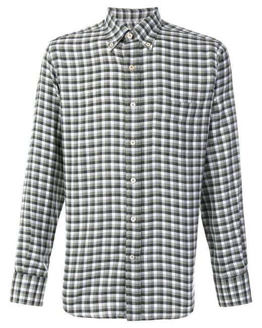 Canali | Green Modern Fit Checked Shirt for Men | Lyst