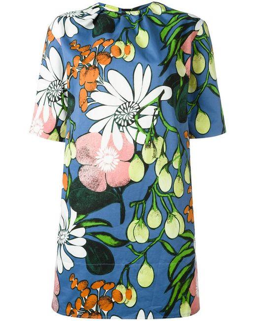 Marni | Blue Madder Print Dress | Lyst