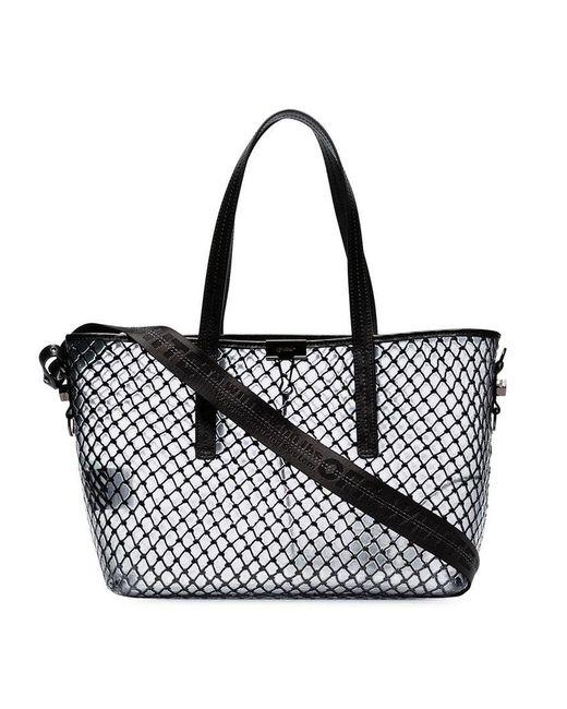 dda0b487633c Lyst - Off-White c o Virgil Abloh Pvc Net Shopper Tote Bag in Black ...
