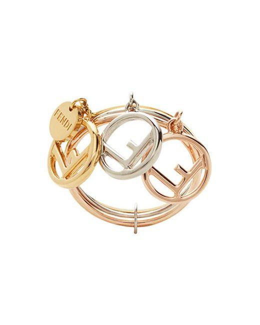 Fendi - Metallic F Is Ring - Lyst