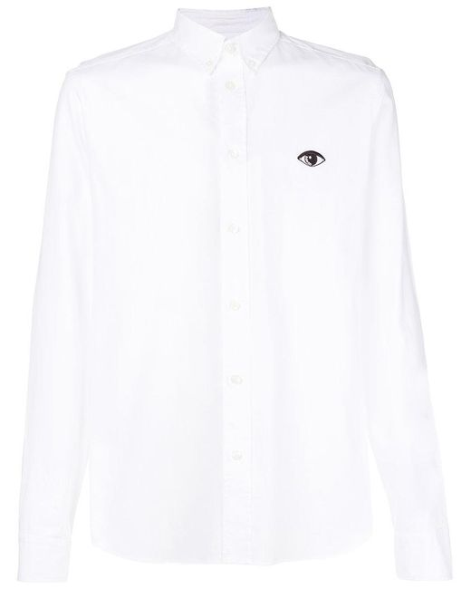 KENZO - White Button Down Shirt for Men - Lyst