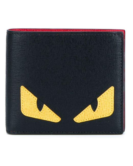 Fendi | Black Bag Bugs Billfold Wallet for Men | Lyst