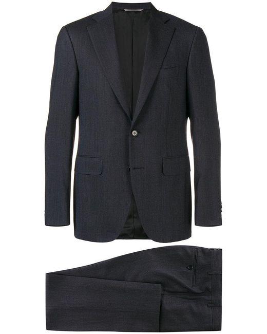 Canali - Blue Two Piece Slim-fit Suit for Men - Lyst