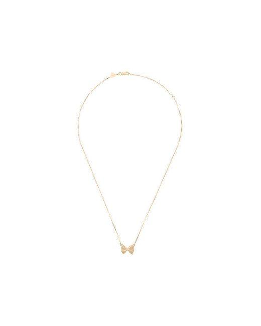 Alison Lou - Metallic 14kt Yellow Gold Bowtie Necklace - Lyst