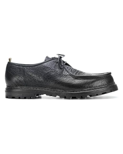 Officine Creative - Black Lace-up Loafers for Men - Lyst