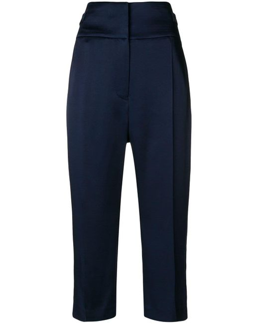 Haider Ackermann - Blue High Waisted Cropped Trousers - Lyst