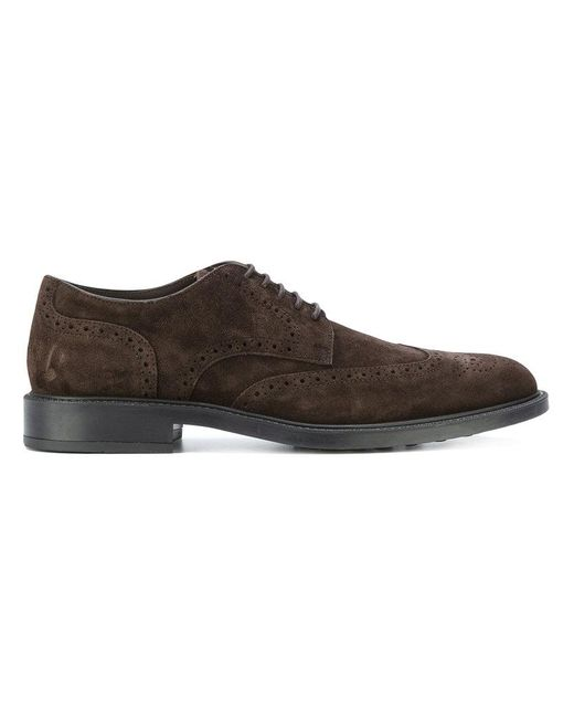 Tod's | Brown Casual Brogue Shoes for Men | Lyst