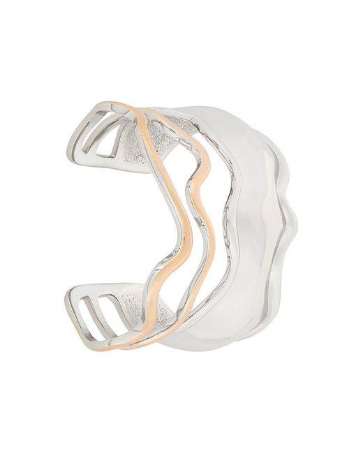 Eshvi - Metallic Wavy Bracelet - Lyst