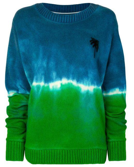 The Elder Statesman | Blue Palm Tree Sweater | Lyst