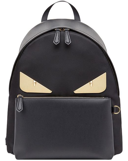 84b9bc110e2f Fendi - Black Bag Bugs Backpack - Lyst ...