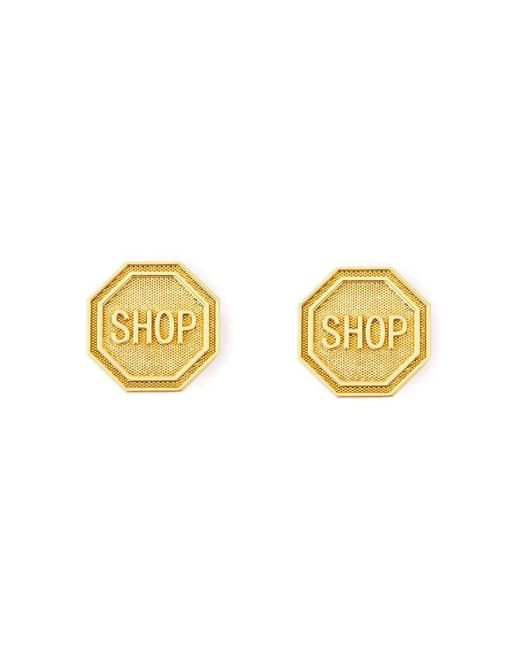 Moschino | Metallic Shop Clip On Earrings | Lyst