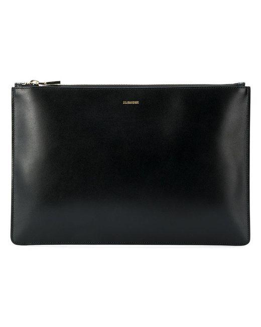 Jil Sander - Black Pouch Bag - Lyst