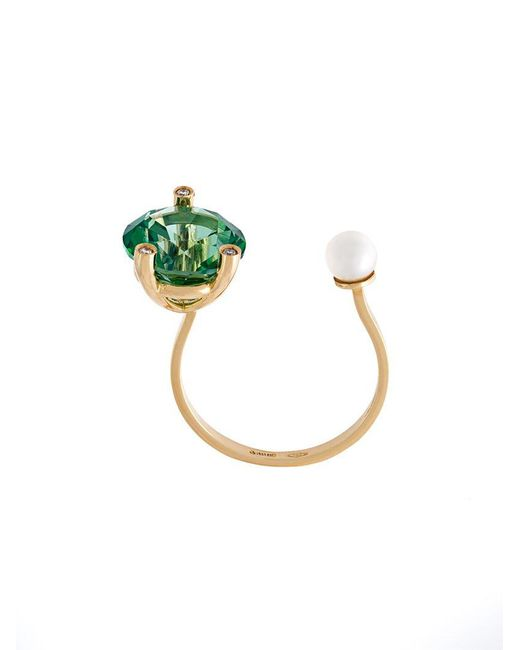 Delfina Delettrez - Multicolor 'magic Triangle Piercing' Diamond Ring - Lyst