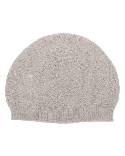 Rick Owens - Gray Knitted Beanie - Lyst