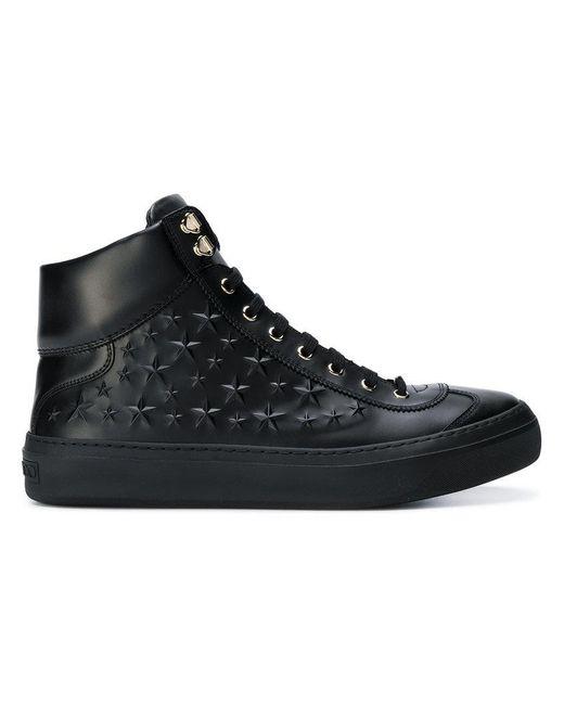 Jimmy Choo - Black Argyle Hi-top Sneakers for Men - Lyst