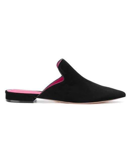 Oscar Tiye - Black Pointed Toe Slippers - Lyst