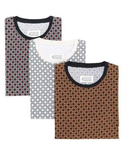 Maison Margiela - Black T-Shirt mit Rauten-Print for Men - Lyst