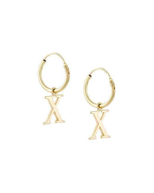 Wouters & Hendrix - Metallic 18kt Yellow Gold 'x' Earrings - Lyst