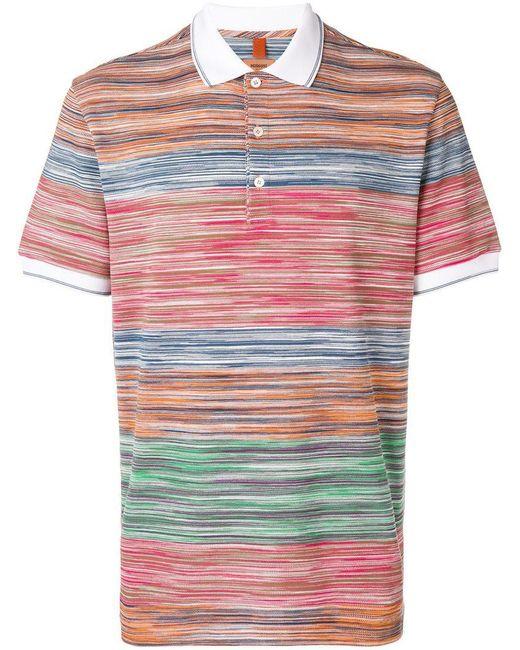 Missoni - Green Poloshirt mit Streifen for Men - Lyst