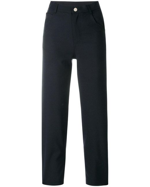 Roseanna - Blue Cropped High-waist Trousers - Lyst