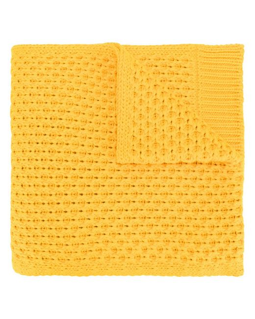 CALVIN KLEIN 205W39NYC - Yellow Chunky Knit Scarf for Men - Lyst