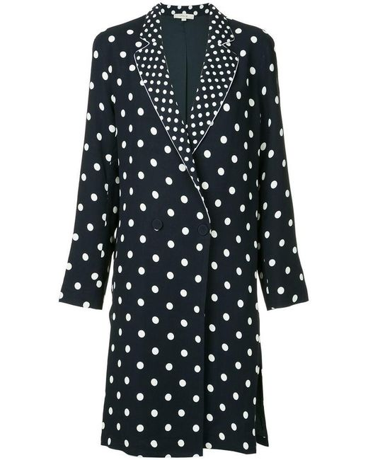 ‎LAYEUR‎ - Black Polka Dot Longline Jacket - Lyst