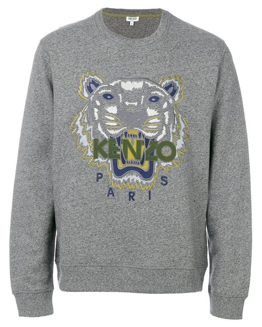a45066f8ab3 Kenzo - Tiger Head Sweatshirt in Gray for Men - Save ...