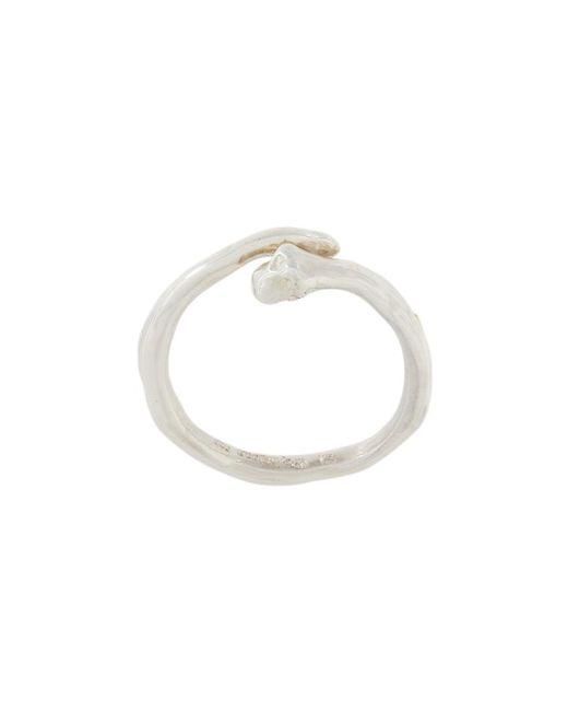 Rosa Maria - Metallic 'penna' Ring - Lyst