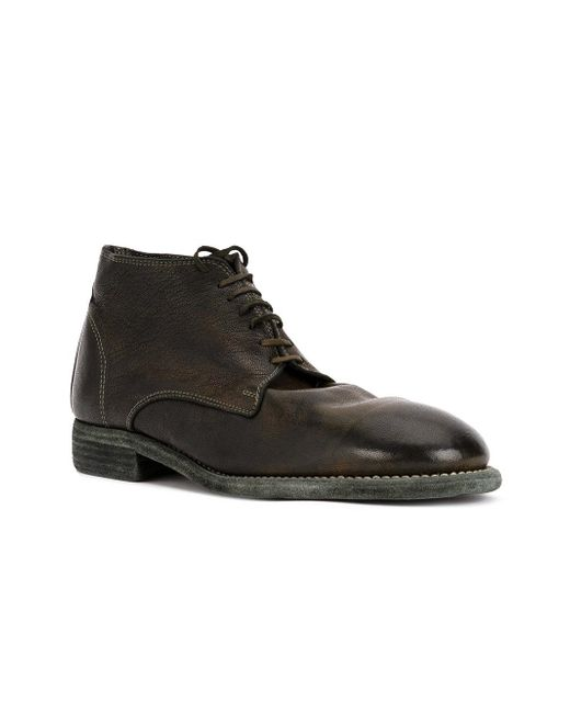 lace-up fitted boots - Green Guidi f12y28y1hy