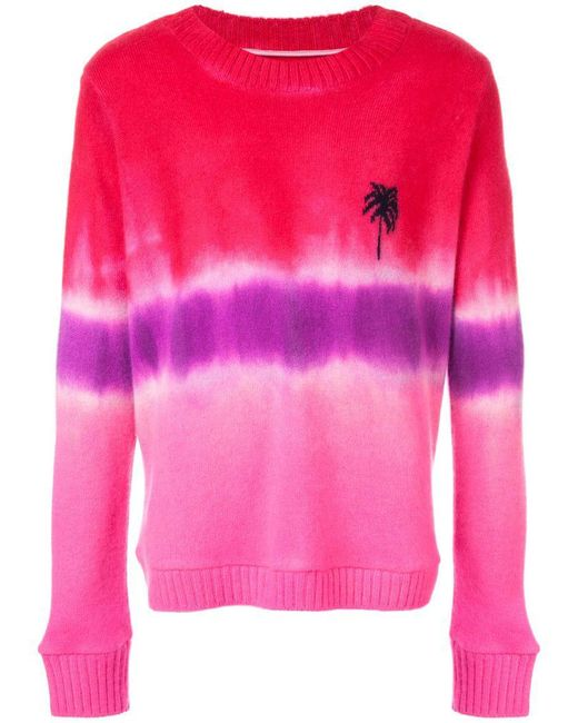 The Elder Statesman - Pink Tie Dye Sweater for Men - Lyst