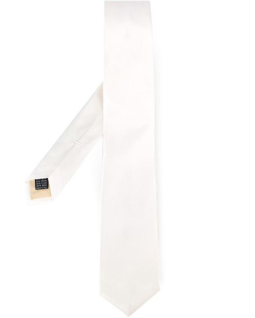 Fashion Clinic Timeless - White Woven Silk Tie for Men - Lyst