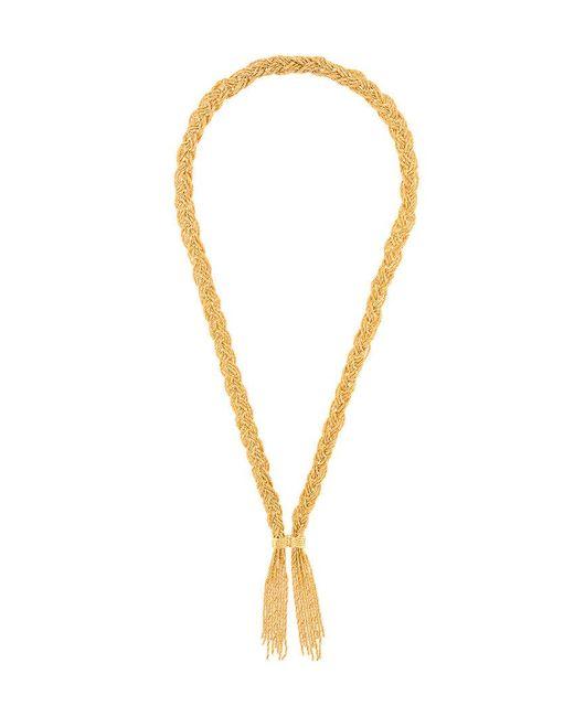 Aurelie Bidermann - Metallic Miki Braided Gold-plated Necklace - Lyst