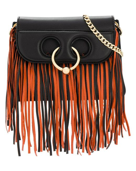 J.W. Anderson - Black Fringed Shoulder Bag - Lyst