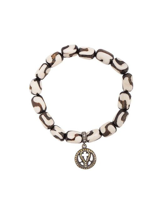 Loree Rodkin - White Bone Beaded Charm Bracelet - Lyst