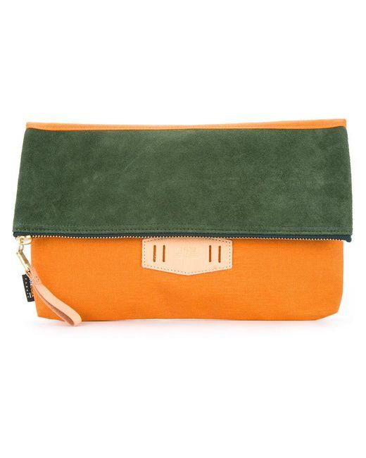 As2ov   Orange Contrast Flap Clutch Bag   Lyst
