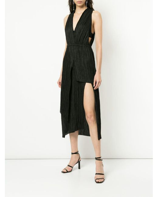 ... Manning Cartell - Black Vertical Impact Halter Dress - Lyst ... d9efc8600